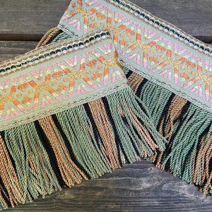 vintage Accents - Vintage Drapery Ties With Fringe